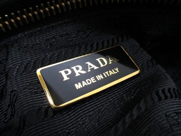 プラダ ショルダーバッグ美品  - 1BG052 黒×イエロー×マルチ 6