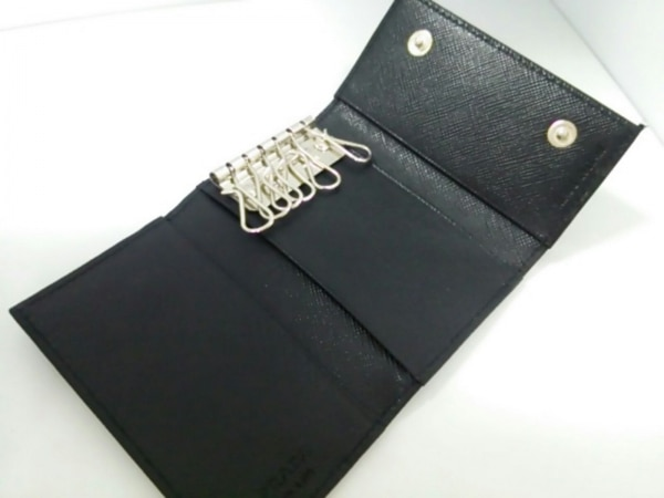 PRADA(プラダ) キーケース美品  - M222 黒 6連フック ナイロン 3