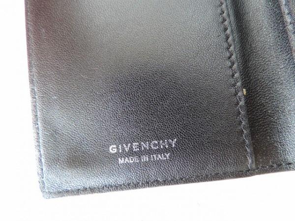 GIVENCHY(ジバンシー) カードケース美品  黒×ピンク×マルチ 花柄 5