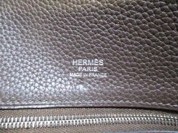 HERMES(エルメス) トートバッグ ヴィクトリアカバス カフェ 6
