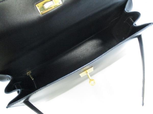 HERMES(エルメス) ハンドバッグ ケリー32 黒 外縫い/ゴールド金具 2
