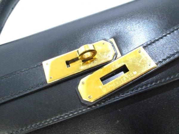HERMES(エルメス) ハンドバッグ ケリー32 黒 外縫い/ゴールド金具 3