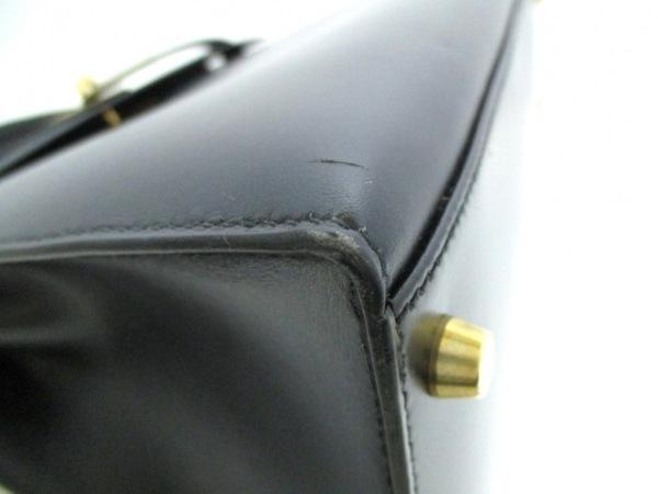 HERMES(エルメス) ハンドバッグ ケリー32 黒 外縫い/ゴールド金具 6