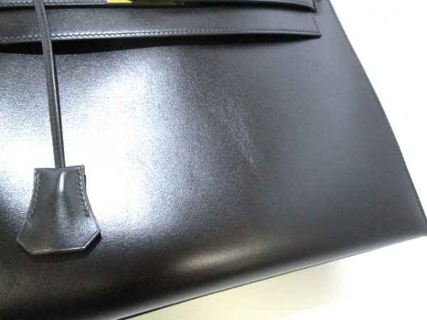 HERMES(エルメス) ハンドバッグ ケリー32 黒 外縫い/ゴールド金具 7