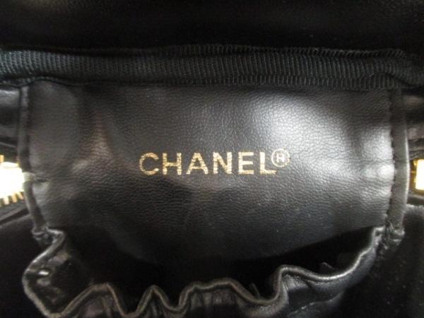 CHANEL(シャネル) バニティバッグ ビコローレ 黒 ラムスキン 6