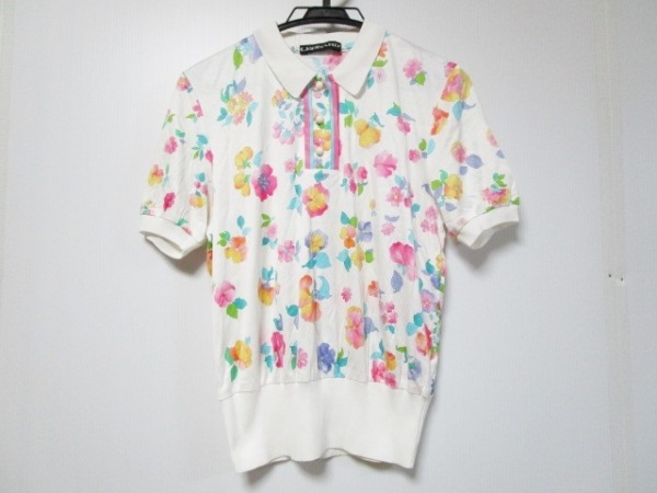 LEONARD(レオナール) 半袖ポロシャツ サイズM レディース美品  花柄 0