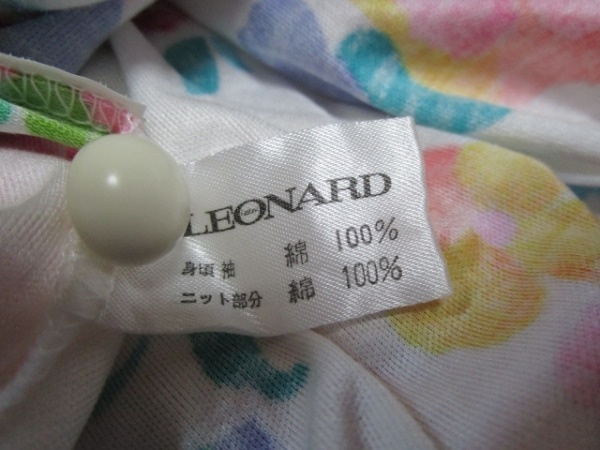 LEONARD(レオナール) 半袖ポロシャツ サイズM レディース美品  花柄 4