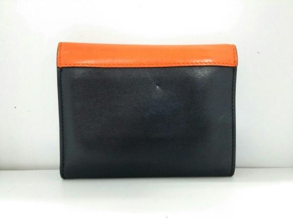 CELINE(セリーヌ) 3つ折り財布 - 黒×オレンジ×ライトピンク レザー 2