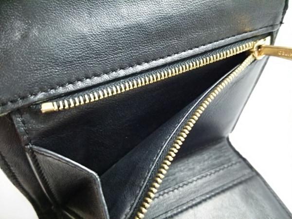 CELINE(セリーヌ) 3つ折り財布 - 黒×オレンジ×ライトピンク レザー 4
