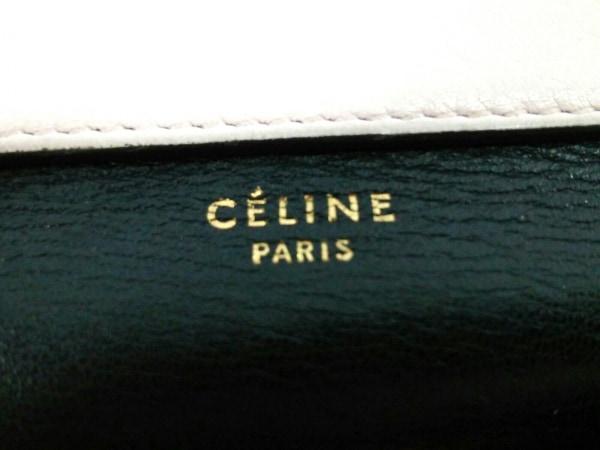 CELINE(セリーヌ) 3つ折り財布 - 黒×オレンジ×ライトピンク レザー 5