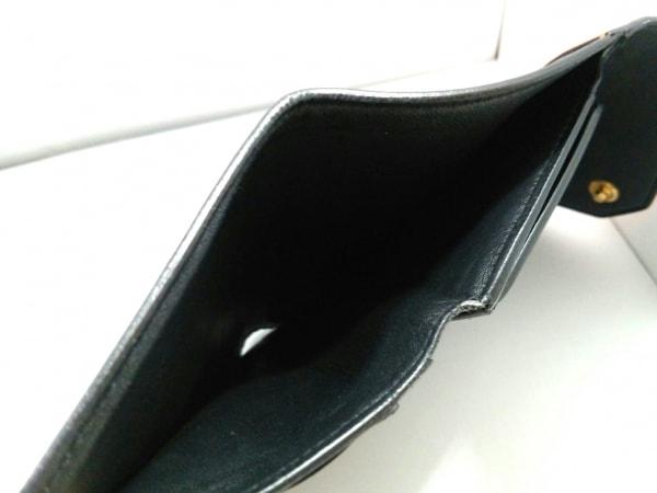 CELINE(セリーヌ) 3つ折り財布 - 黒×オレンジ×ライトピンク レザー 7