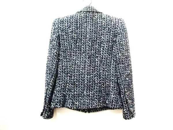 CHANEL(シャネル) ジャケット サイズ36 S レディース 黒×白 2