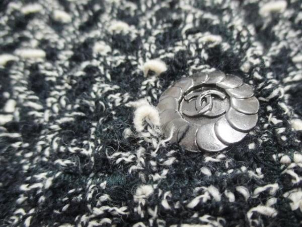 CHANEL(シャネル) ジャケット サイズ36 S レディース 黒×白 5