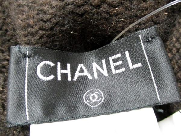 シャネル 長袖セーター サイズ38 M レディース ダークブラウン 3