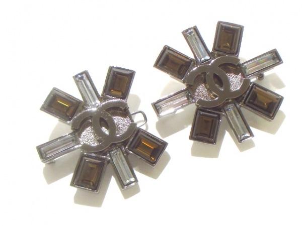 CHANEL(シャネル) ブローチ美品  金属素材×ラインストーン 0