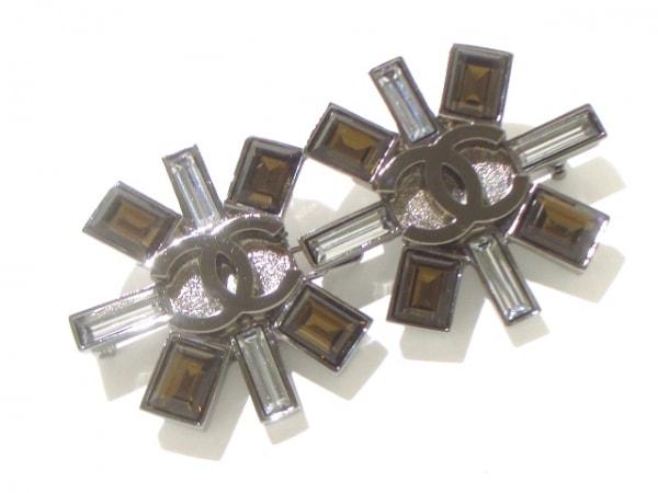 CHANEL(シャネル) ブローチ美品  金属素材×ラインストーン 4