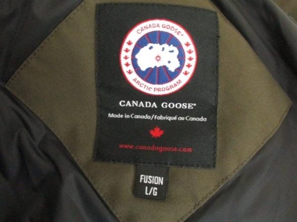 カナダグース ダウンジャケット サイズL/G L レディース美品  カーキ 3
