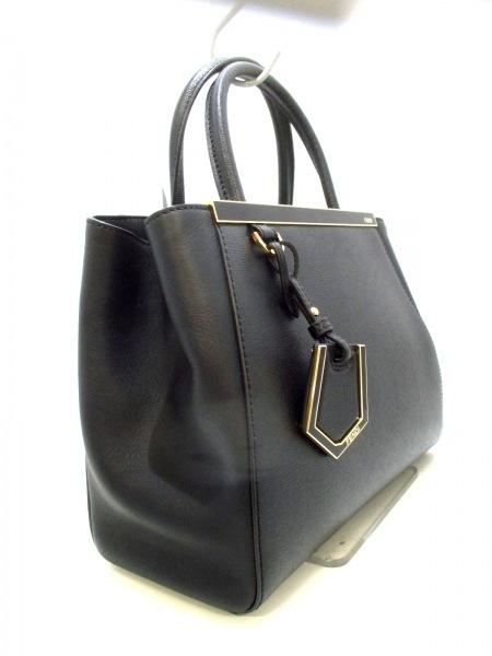 フェンディ ハンドバッグ美品  プチトゥージュール 8BH253 黒 レザー 2