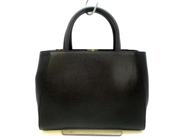 フェンディ ハンドバッグ美品  プチトゥージュール 8BH253 黒 レザー 3
