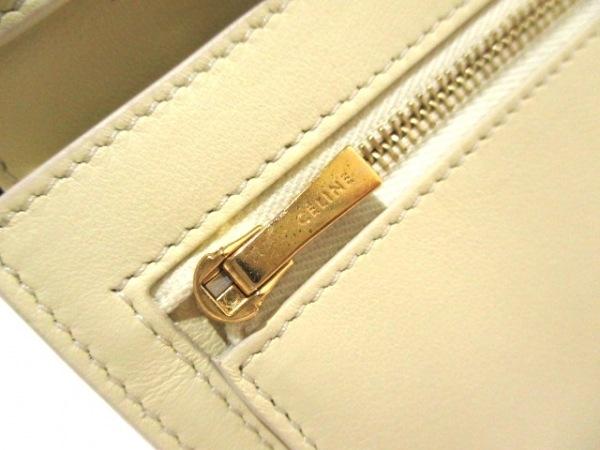 CELINE(セリーヌ) 2つ折り財布美品  ネイビー×アイボリー レザー 6