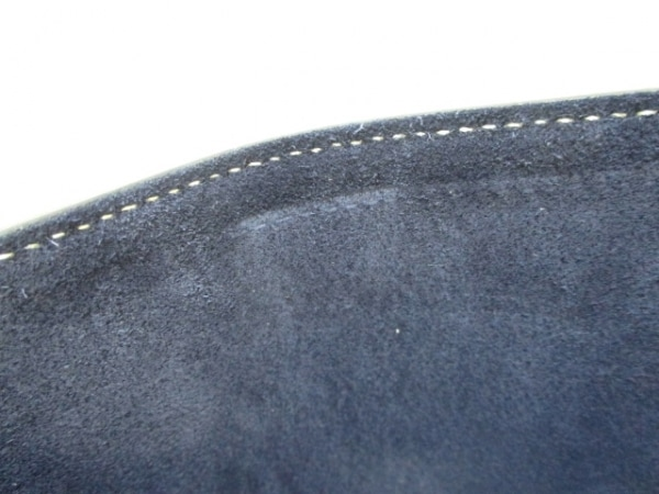 CELINE(セリーヌ) 2つ折り財布美品  ネイビー×アイボリー レザー 7