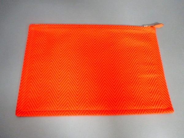 エルメス ポーチ美品  トゥルース フラットGM 102636M オレンジ 2
