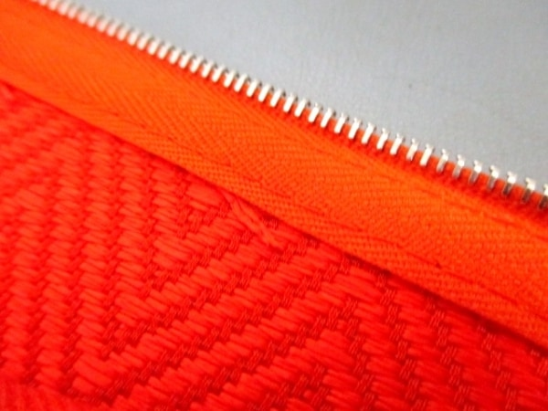 エルメス ポーチ美品  トゥルース フラットGM 102636M オレンジ 6