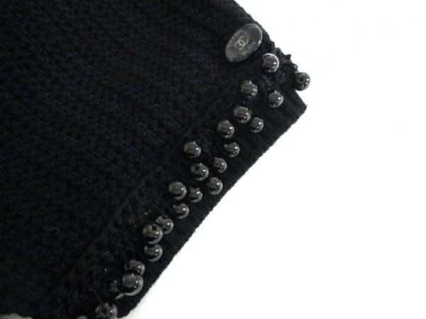 シャネル ワンピース サイズ42 L レディース 黒 ニット/ビーズ/半袖 6
