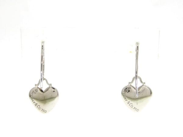 ティファニー ピアス美品  ドッツハート K18WG×ダイヤモンド 2