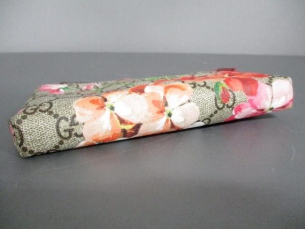 グッチ ポーチ美品  GGブルームス 403006 PVC(塩化ビニール)×レザー 3