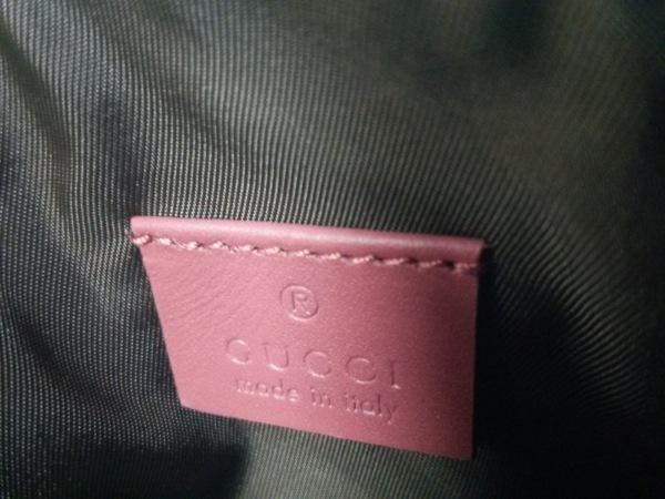 グッチ ポーチ美品  GGブルームス 431380 PVC(塩化ビニール)×レザー 5