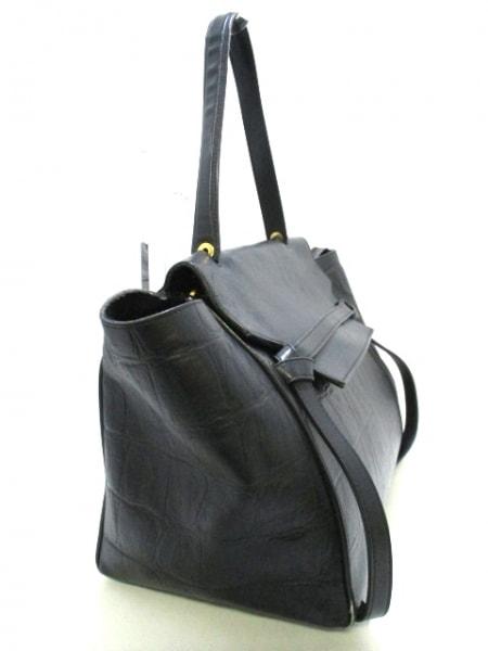 CELINE(セリーヌ) ハンドバッグ ベルトバッグ 黒 型押し加工 レザー 2