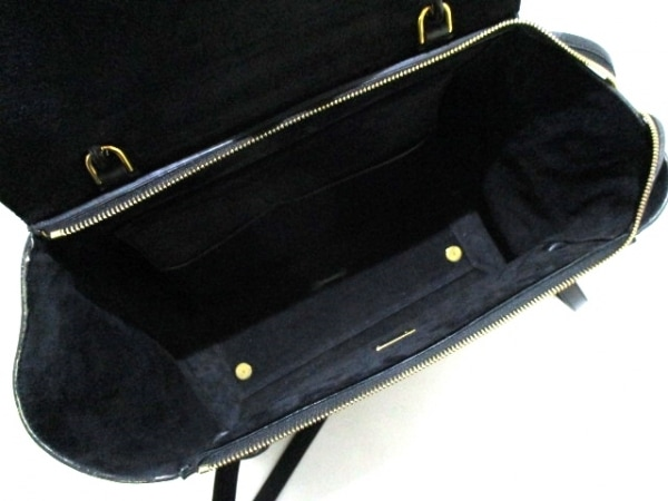 CELINE(セリーヌ) ハンドバッグ ベルトバッグ 黒 型押し加工 レザー 5