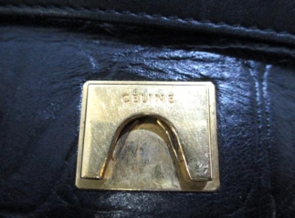 CELINE(セリーヌ) ハンドバッグ ベルトバッグ 黒 型押し加工 レザー 6