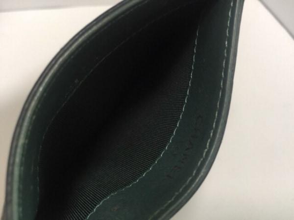 CHANEL(シャネル) カードケース マトラッセ グリーン キャビアスキン 3