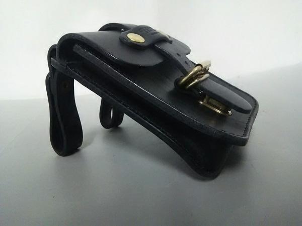 HERZ(ヘルツ) バッグ美品  黒 ベルトポーチ レザー 2