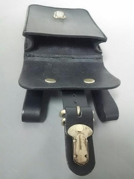 HERZ(ヘルツ) バッグ美品  黒 ベルトポーチ レザー 5