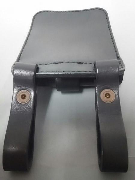HERZ(ヘルツ) バッグ美品  黒 ベルトポーチ レザー 7