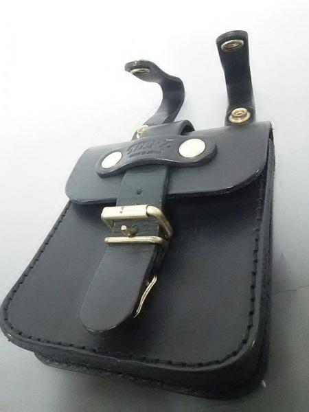 HERZ(ヘルツ) バッグ美品  黒 ベルトポーチ レザー 8