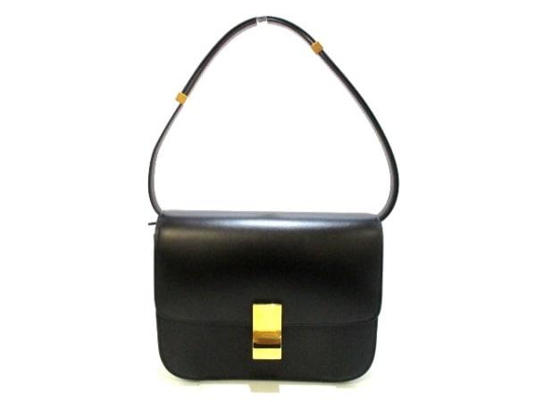 セリーヌ ショルダーバッグ美品  クラシックボックスミディアム 黒 0