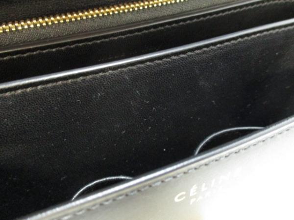 セリーヌ ショルダーバッグ美品  クラシックボックスミディアム 黒 8