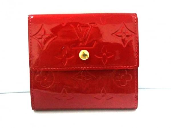 ルイヴィトン Wホック財布 モノグラムヴェルニ M91982 ポムダムール 0