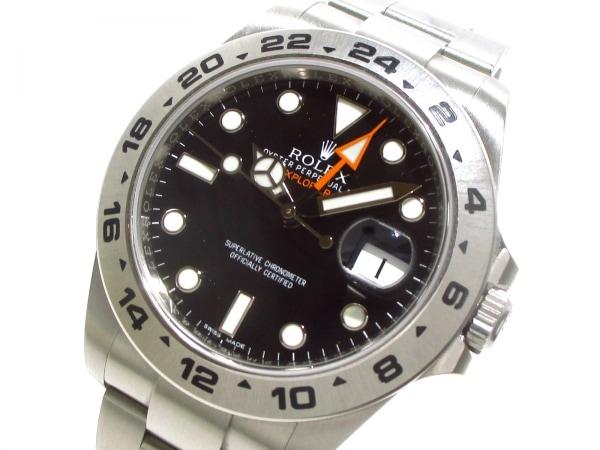ROLEX(ロレックス) 腕時計美品  エクスプローラー2 216570 メンズ 黒 0
