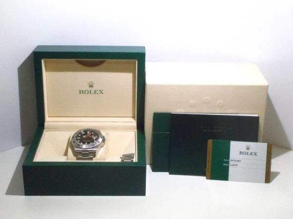ROLEX(ロレックス) 腕時計美品  エクスプローラー2 216570 メンズ 黒 9