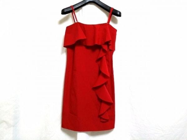 DKNY(ダナキャラン) ドレス レディース新品同様  レッド フリル 0