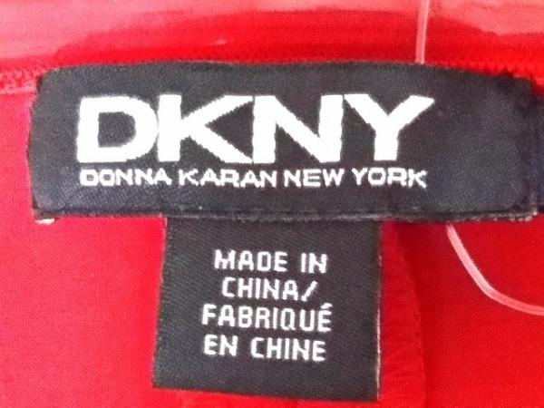 DKNY(ダナキャラン) ドレス レディース新品同様  レッド フリル 3
