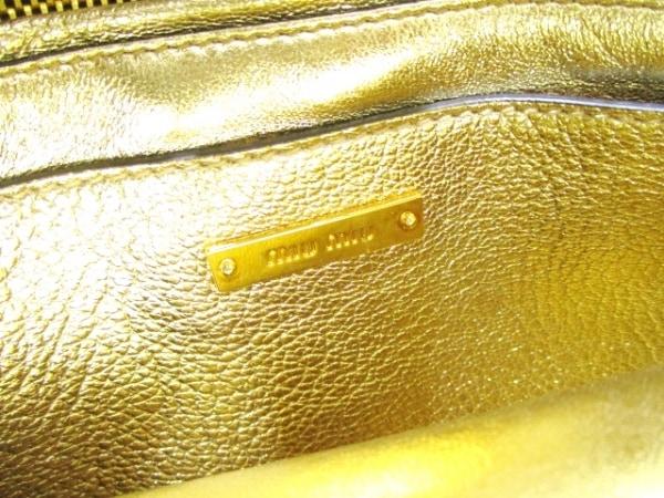 ミュウミュウ ハンドバッグ マドラス RN1104 ブルー×ゴールド 6