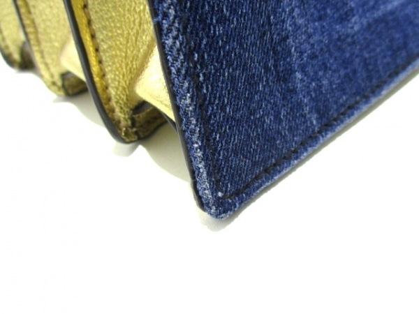 ミュウミュウ ハンドバッグ マドラス RN1104 ブルー×ゴールド 7