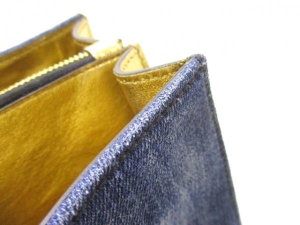 ミュウミュウ ハンドバッグ マドラス RN1104 ブルー×ゴールド 8