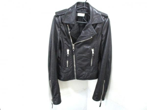 バレンシアガ ライダースジャケット サイズ38 M レディース美品  黒 0